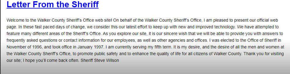 Walker County Sheriff
